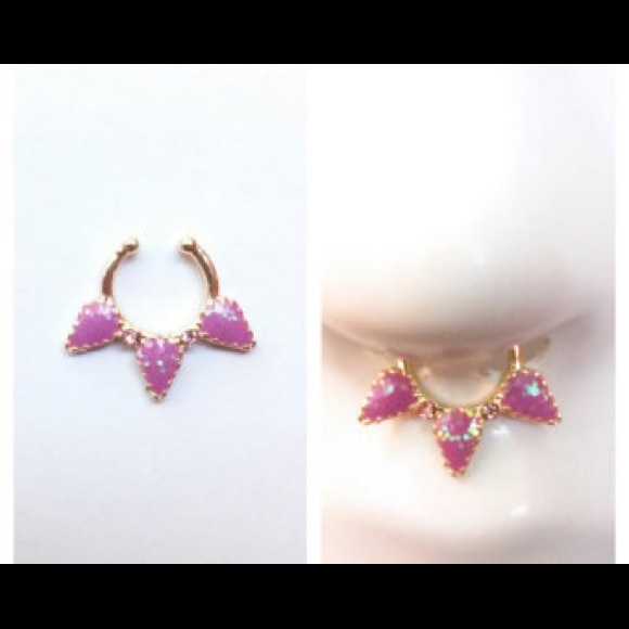 Jewelry Faux Septum Ring Iridescent Purple Poshmark